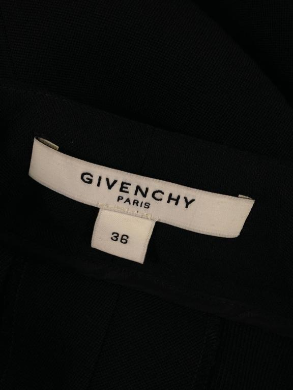 Givenchy Black Wool Pant with Tailcoat Hem 9
