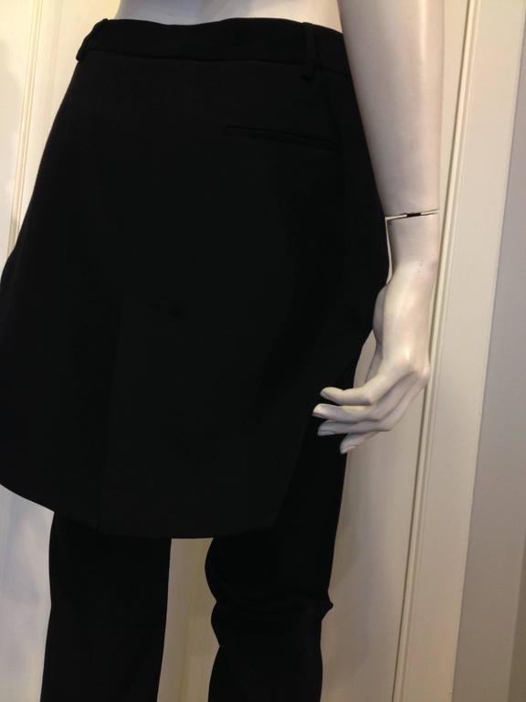 Givenchy Black Wool Pant with Tailcoat Hem 4