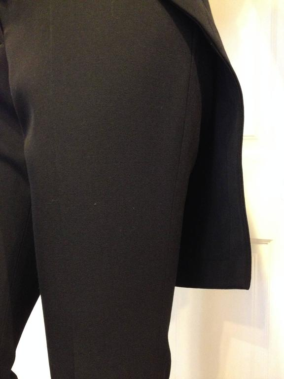 Givenchy Black Wool Pant with Tailcoat Hem 6