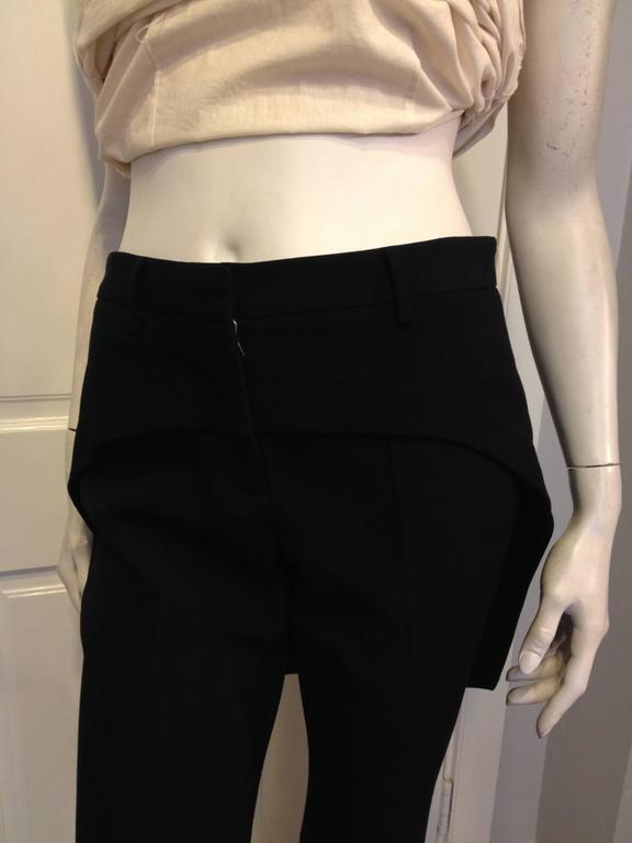 Givenchy Black Wool Pant with Tailcoat Hem 8