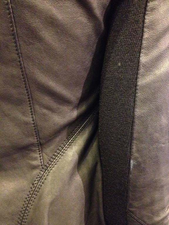 Rick Owens Black Leather Jacket 8