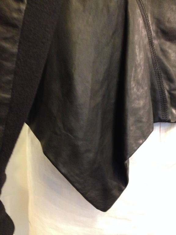 Rick Owens Black Leather Jacket 7
