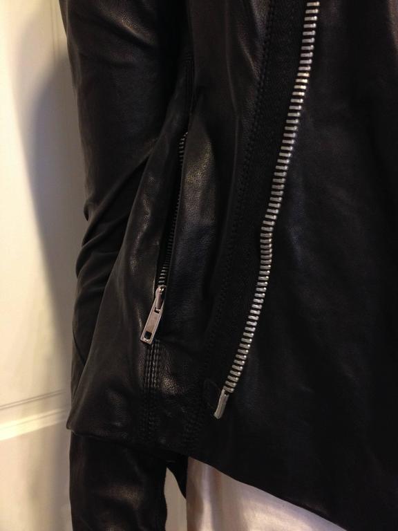 Rick Owens Black Leather Jacket 5