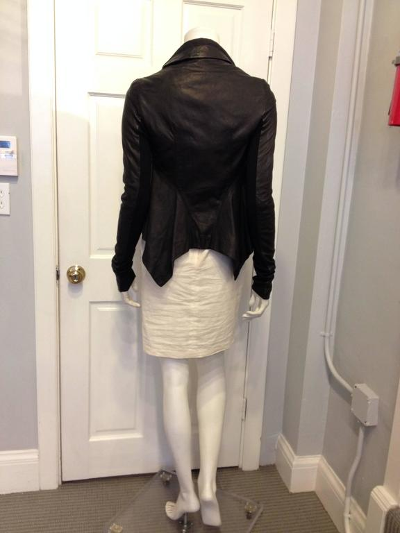 Rick Owens Black Leather Jacket 3