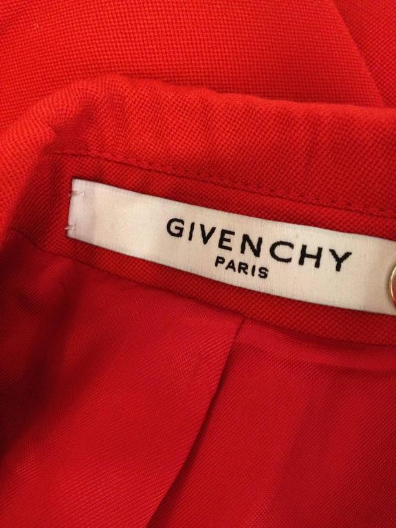 Givenchy Vermillion Red Blazer For Sale 4