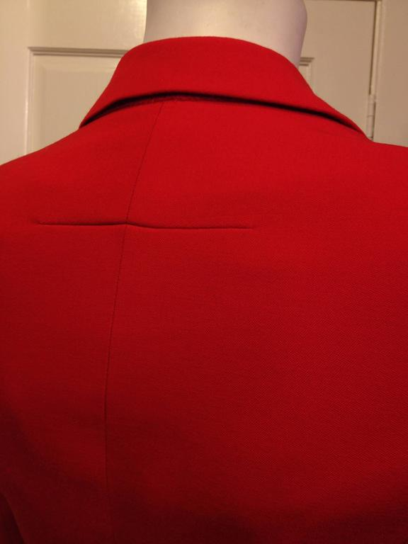 Givenchy Vermillion Red Blazer For Sale 1