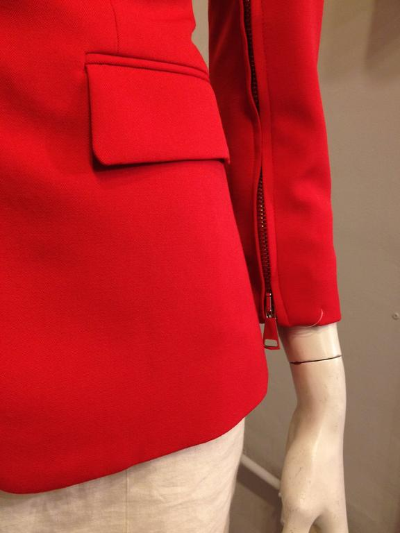 Givenchy Vermillion Red Blazer For Sale 3