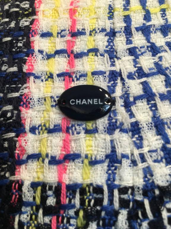 Chanel Multi-color Tweed Skirt size 38 (6) For Sale 1