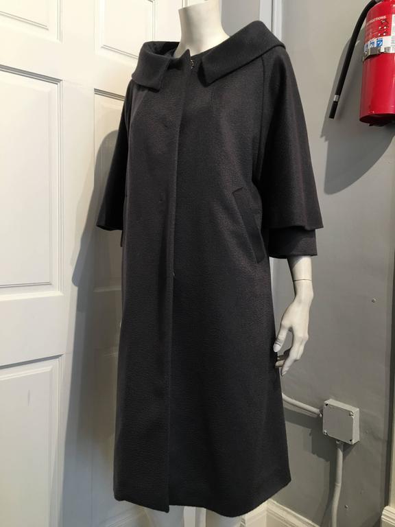 Fendi Grey Cashmere Coat Size 42 6 At 1stdibs