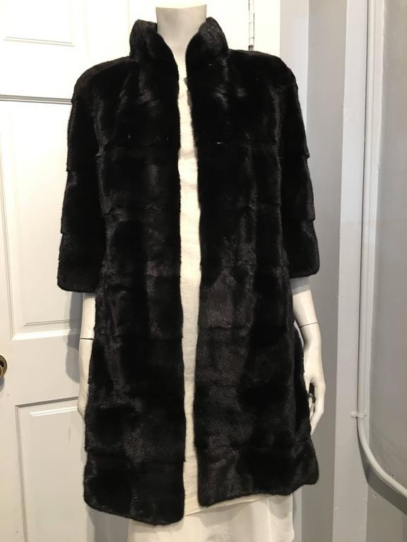 Fendi Black Mink Coat 2