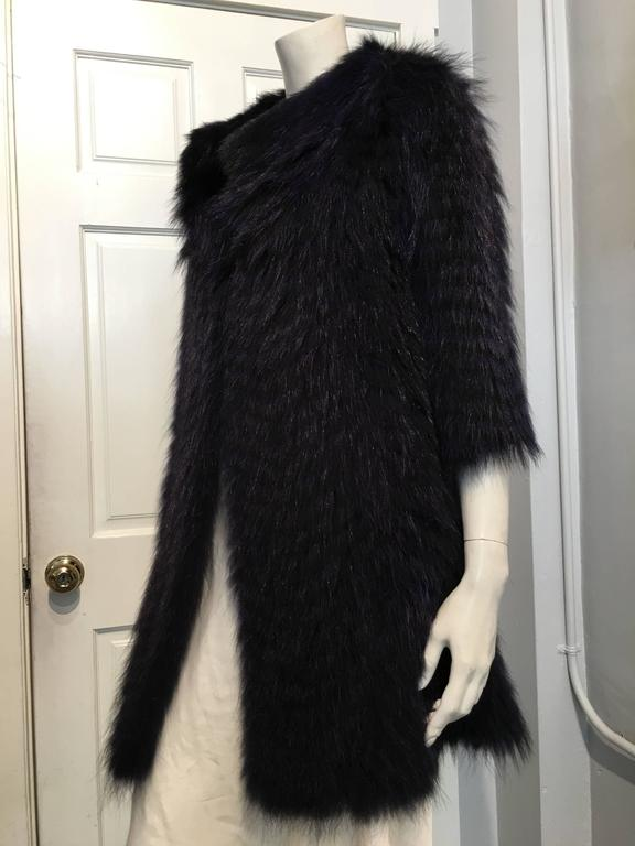 Cassin Dyed Raccoon Fur Coat 2
