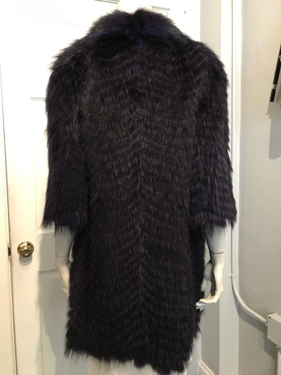 Cassin Dyed Raccoon Fur Coat 4