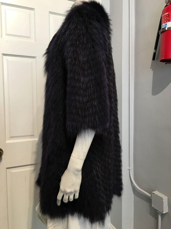 Cassin Dyed Raccoon Fur Coat 5