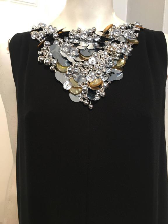 Chanel Embellished Black Cocktail Dress (Resort 2015) 7
