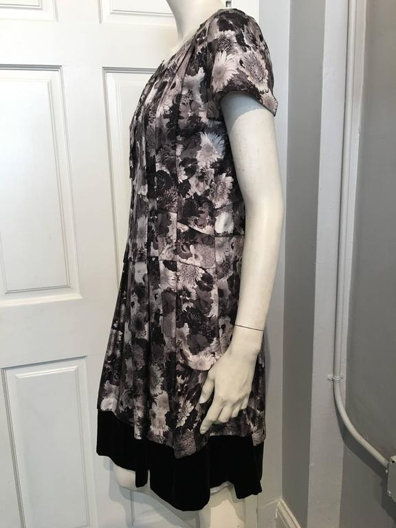 Louis Vuitton Grey Floral Dress 40 For Sale At 1stdibs