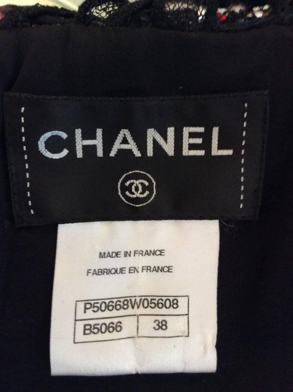Chanel Ribbon Dress with Lace Accent. For Sale 3