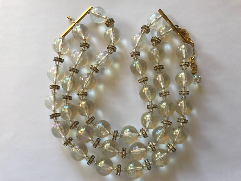 Chanel Three Strand Bead Necklace 2