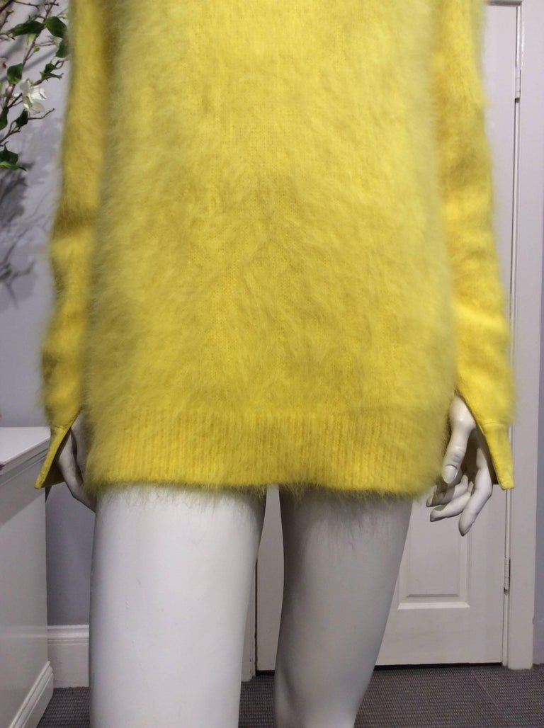 476dcd8a24 Givenchy Yellow Angora Oversized Sweater at 1stdibs