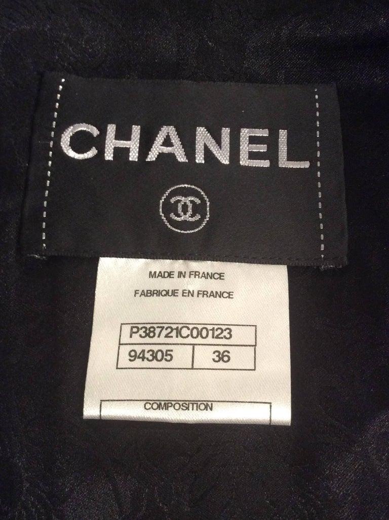 Chanel Black Leather Jacket With Cutout Appliqué Camellias Sz 36 (US 4) For Sale 1