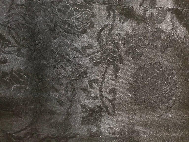 Chanel Black Leather Jacket With Cutout Appliqué Camellias Sz 36 (US 4) For Sale 4