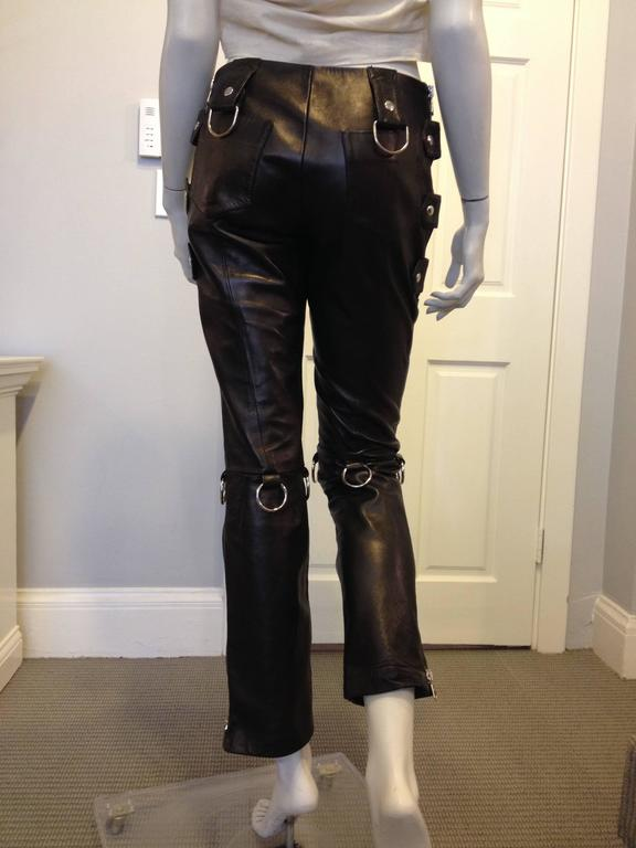 Dolce & Gabbana Black Leather Pants 3