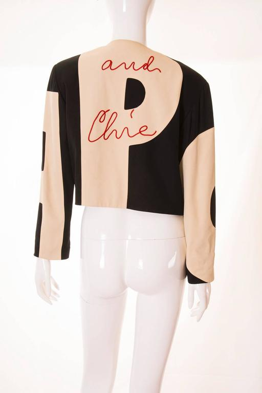 Moschino Cheap and Chic Logo Jacket at 1stdibs