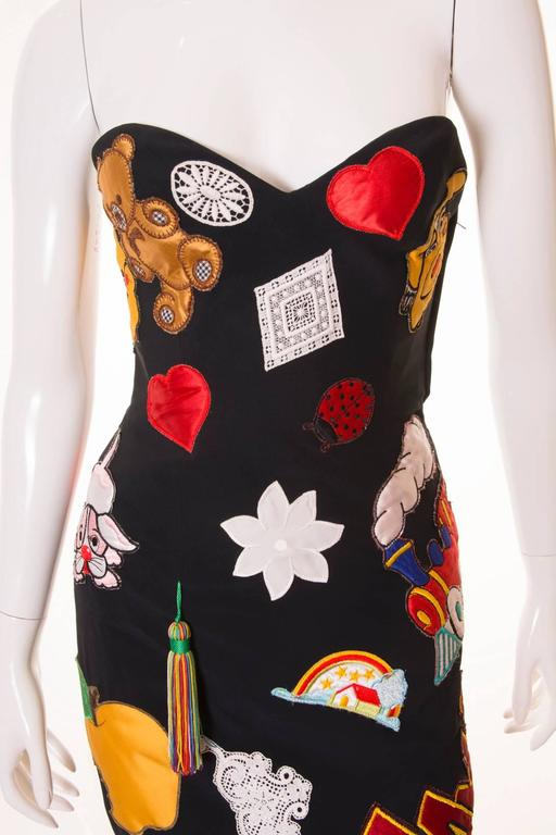 Documented Franco Moschino S/S 1988 Patch Dress 3