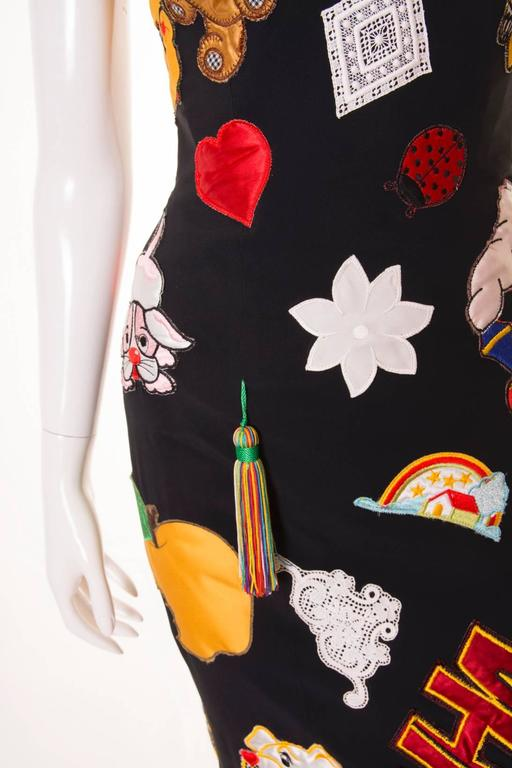 Documented Franco Moschino S/S 1988 Patch Dress 4
