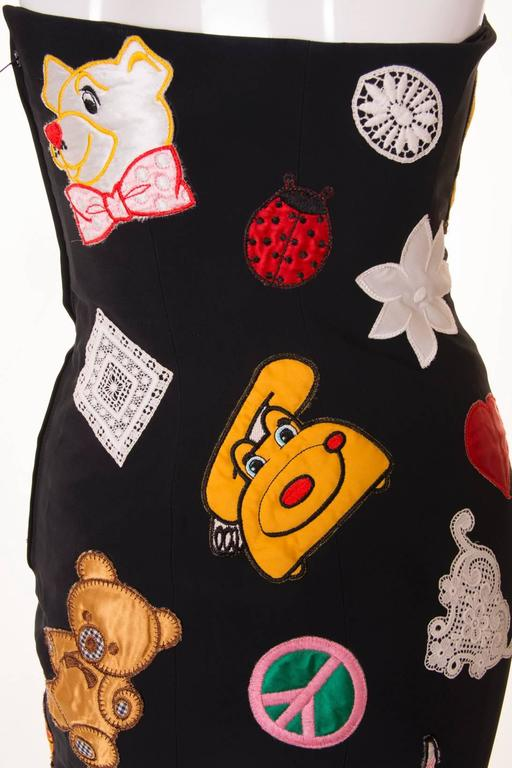 Documented Franco Moschino S/S 1988 Patch Dress 6