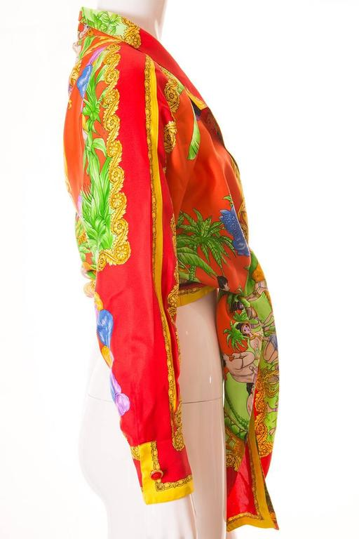 Gianni Versace Silk Tie Front Shirt 3