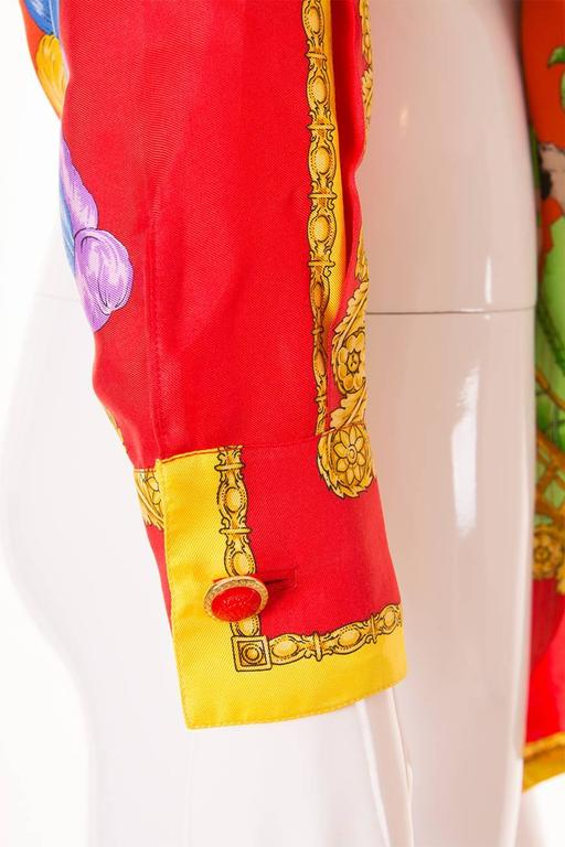 Gianni Versace Silk Tie Front Shirt 4