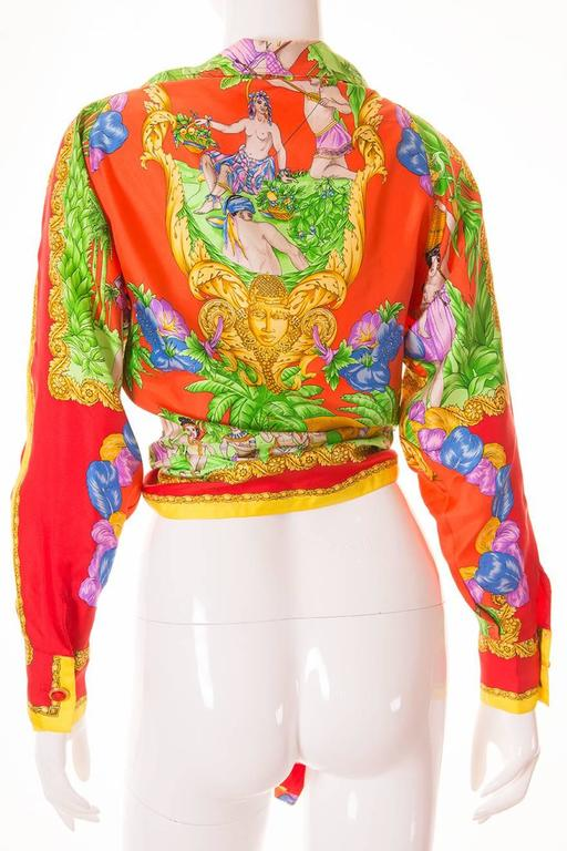Gianni Versace Silk Tie Front Shirt 2