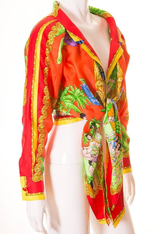Gianni Versace Silk Tie Front Shirt 5