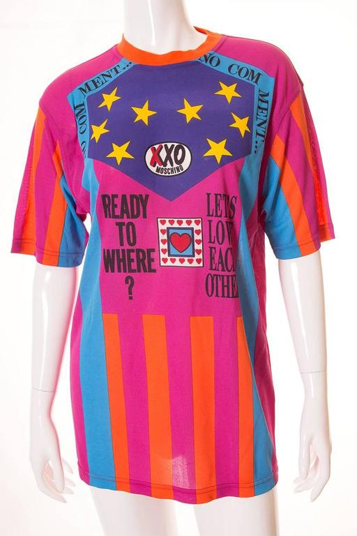 "Moschino ""Ready to Where?"" Cyclist Jersey Tshirt 3"