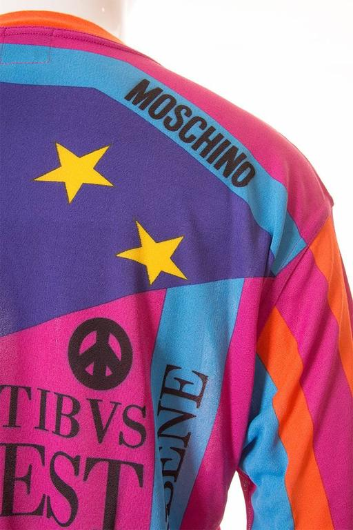 "Moschino ""Ready to Where?"" Cyclist Jersey Tshirt 4"