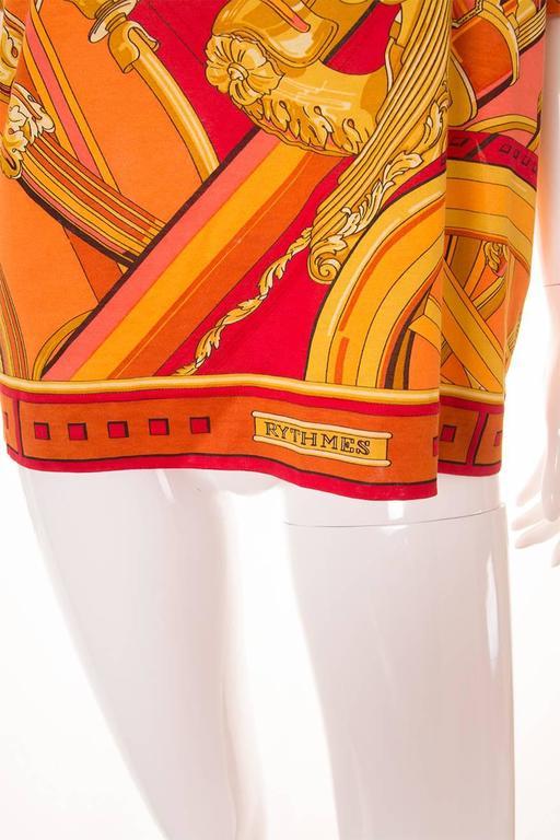 """Hermes """"Rythmes"""" Print Tshirt 3"""