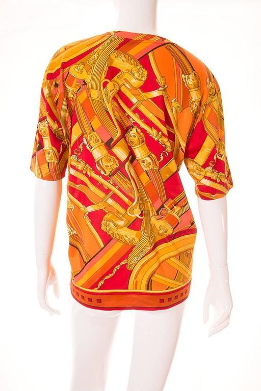 """Hermes """"Rythmes"""" Print Tshirt 4"""