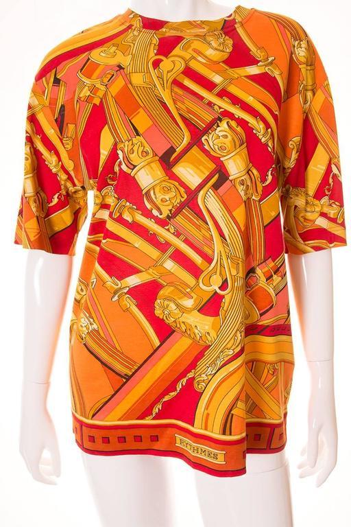 """Hermes """"Rythmes"""" Print Tshirt 5"""