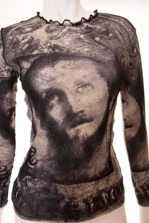 Jean Paul Gaultier Sheer Religious Art Top 5