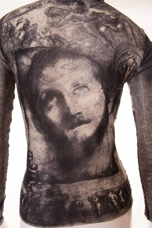 Jean Paul Gaultier Sheer Religious Art Top 6