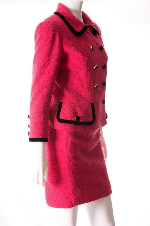Chanel 1996 Velvet Trim Skirt Suit 3