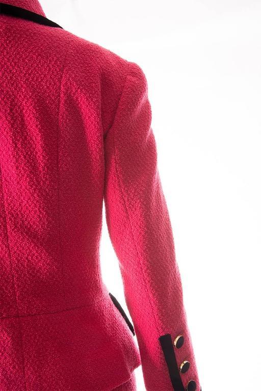Chanel 1996 Velvet Trim Skirt Suit 5