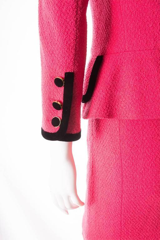 Chanel 1996 Velvet Trim Skirt Suit 6