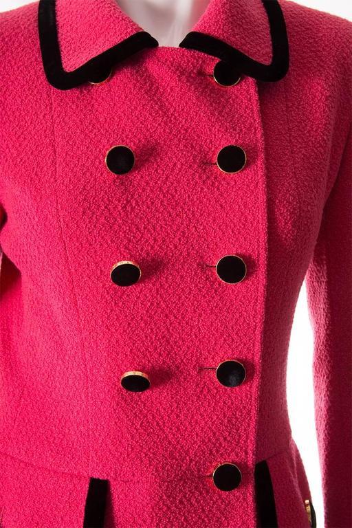 Chanel 1996 Velvet Trim Skirt Suit 2