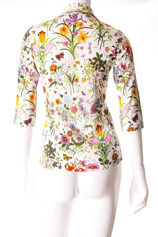 Gucci V. Accornero Iconic Flora Print Shirt 4
