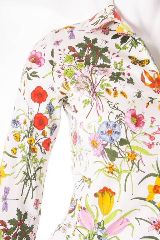 Gucci V. Accornero Iconic Flora Print Shirt 5
