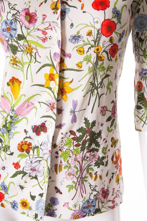Gucci V. Accornero Iconic Flora Print Shirt 6