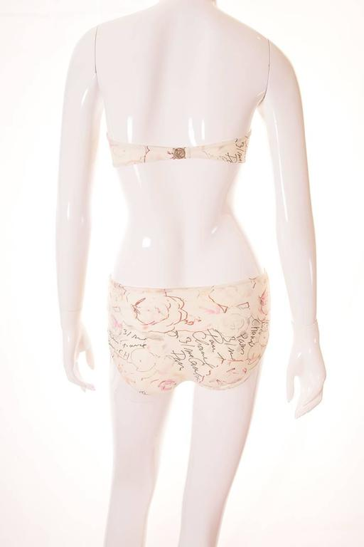 Chanel 1998 Cruise Watercolour Bandeau Bikini 3