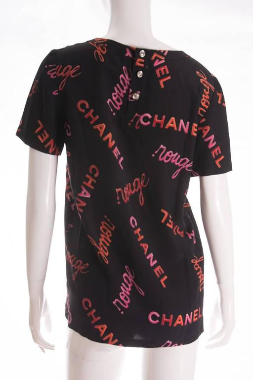Chanel 96P Rouge Print Top 2