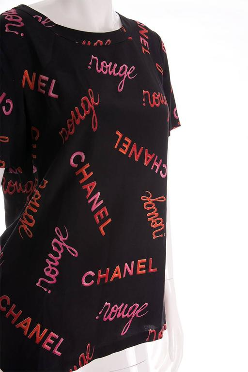 Chanel 96P Rouge Print Top 4
